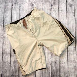 Burnside tan/brown swim shorts - Large
